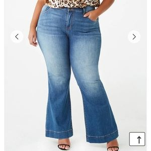 Forever 21 High waist button up flare Jeans